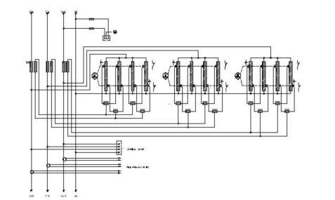 Электрическая схема стабилизаторов напряжения серии Sirius Y (с четырехблочным регулятором напряжения) .